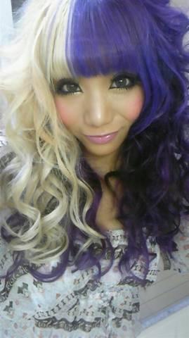 asian girl with purple blonde hair - Elegant asian Hair Extensions