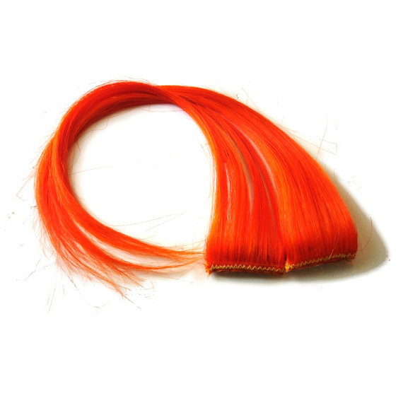 Hair Extensions Orange 25