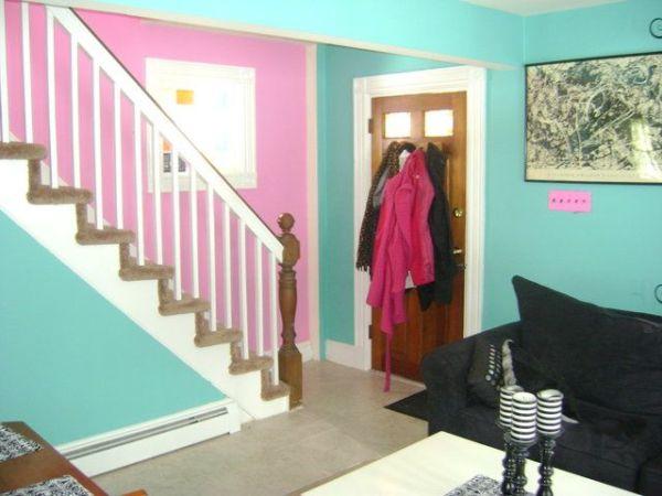 Raquel Reed's Home - Her front door area, living room & steps